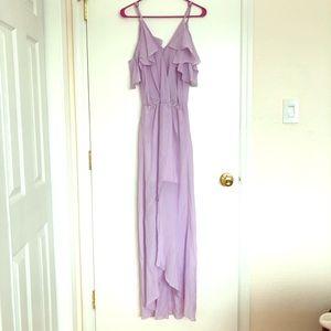 Unworn Revolve Lavender Maxi Dress